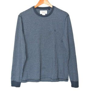 Original Penguin Long-sleeve Tee Striped Cotton M